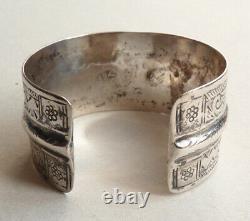 Old Ethnic Bracelet Silver Massive Silver Silver