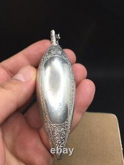 Old Flask A Perfume Salts Oils In Silver Massif XVIII Eme 105gr