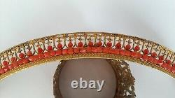 Old French Wedding Tiara Silver Gilded Coral Ancient Coral Diadem Vermeil