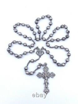 Old Hat All In Solid Silver With Pretty Openwork Cross 19th Century