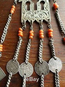 Old Jewel Brooch Pin Silver Reef Morocco Moroccan Berber Antique Silver