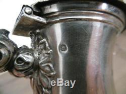 Old Jug Teapot Silver Neck Brace