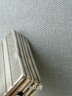 Old Lighter Art Deco Cartier Silver Massive Antique Lighter Silver