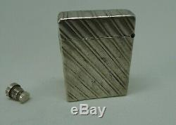 Old Lighter Has Essense Silver Vintage Sterling Silver Petrol Lighter