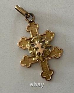 Old Lorraine Cross Gold Pendant 18 Carats