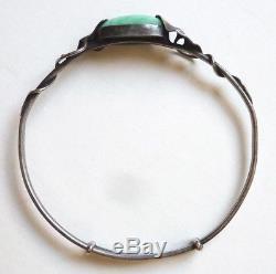Old Massive Silver Bracelet Signed Paul Dumont Art Nouveau Circa 1910