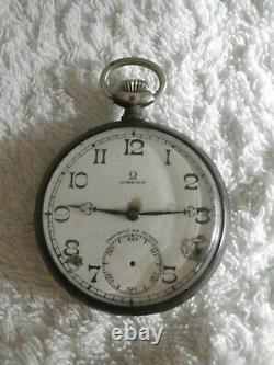 Old Omega Gossip Watch Solid Silver Case Swan Punch Works