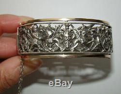 Old Openwork Strap Silver Renaissance Xixth