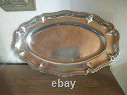 Old Oval Plate In Solid Oval Silver