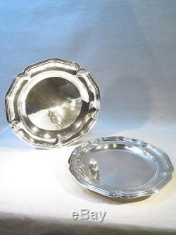 Old Pair Great Dishes In Sterling Silver Louis XV Style Epoque Napoleon 3