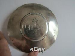 Old Paten Sterling Silver Paris 1819 Old Punch Solid Silver Paten