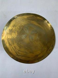 Old Patene In Solid Silver Vermel Poinçon Minerve Chalice Ciborium Silver