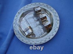 Old Plate Solid Silver Minerve Cup Crystal Solid Silver Minerva