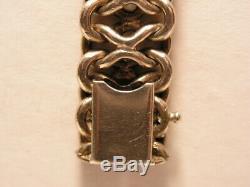 Old Pretty Elegant Bracelet In Sterling Silver Mesh