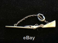 Old Rifle Pendant Small Miniature Antique Sterling Silver Jewelry Articulated