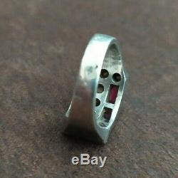 Old Ring Tank T50 1930 Art Deco Sterling Silver C. 1920