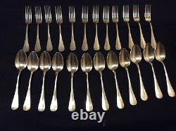 Old Russian Silver Covers 84 Set Of 12 Forks - 12 Spoons
