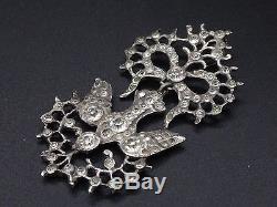 Old Saint Esprit Pendant In Solid Silver And Rhinestones Nineteenth Regional Gem
