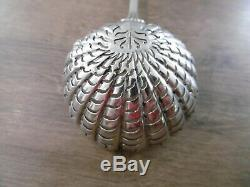 Old Shaker Solid Silver Brace Coat Of Arms Crest