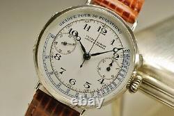 Old Shows Ulysse Nardin Choronographe Valjoux 13 Vz 1900 Vintage Watch