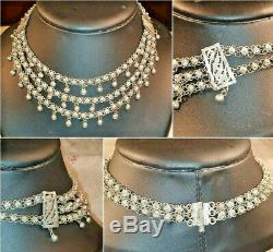 Old Silver Adornment XIX 850 Crew Neck Collar And Bracelet Punch