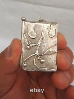Old Silver Ball Book 800 Gold Stamp Art Nouveau Decoration Mise 1900
