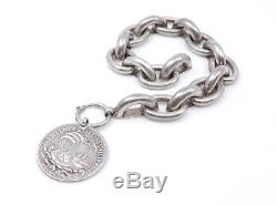 Old Silver Bracelet And Sterling Silver Medal St Georges XIX