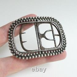 Old Silver Buckle 75 MM Late 18th / Early 19th Century