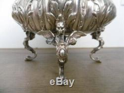 Old Silver Cup Inside Massive Cut Glass