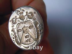 Old Silver Stamp Seal Coat -18e Century
