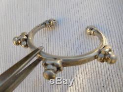 Old Slave Vintage Bracelet Sterling Silver Africa Tuareg 54 Grams Ac23