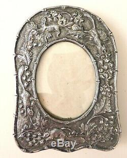 Old Small Picture Frame Silver Frame Silver Frame Squirrel Squirrel