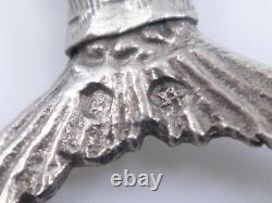 Old Solid Silver Articulated Pendant Representing A Mermaid