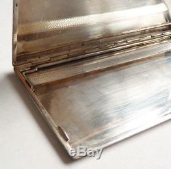 Old Solid Silver Cigarette Case Minerve Art Deco Circa 1930