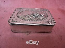 Old Sterling Silver Box Minerva Pastoral Scene Silver Silberne Box Box