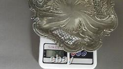 Old Table Center / Sweetware Dish Argent Massif End Of The 19th Century