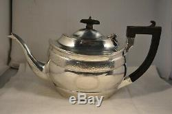 Old Teapot Sterling Silver Antique Solid Silver Tea Pot 1911 Chester 486gr