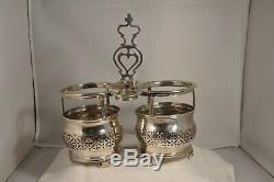 Old Vinaigrier Oil Cruet Sterling Silver XVIII Luneville