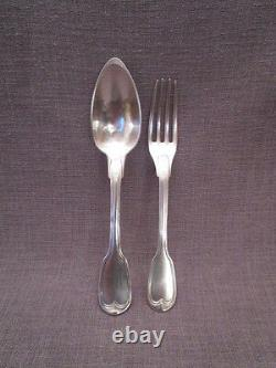 Pair Of Antique Silver Cutlery Early 19th