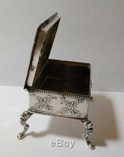 Rare Antique Silver Pill Box