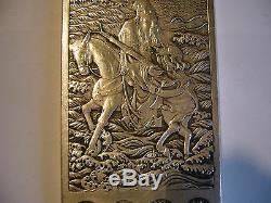 Rare China, And Former Screen Scholar In Solid Silver, Punched The Back