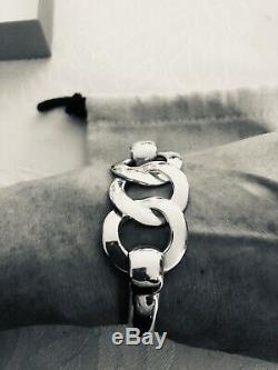 Rare Hermes Bracelet Old Silver 925/1000 (large Model)
