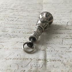 Rare Jewel Old Eighteenth Silver Amethyst Pendant Silver Pearl Jewel 18thc
