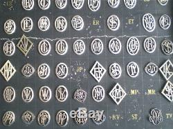 Rare Lot Of 560 Ancient Monograms Initial Art Deco In Sterling Silver