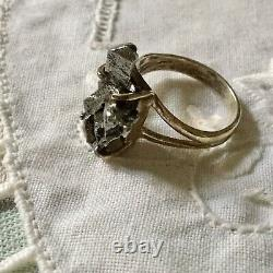 Rare Meteorite Veritable Creator Old Ring, Sterling Silver, A View