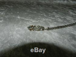 Rare Old Art Nouveau Silver Pendant Bedding / Or Regional And Shiny Jewel