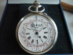 Rare Old Pocket Pocket Clock, Works, 55 MM (2)