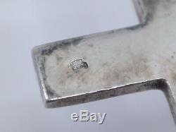 Rare Reliquary Pendant Sacred Heart Former Nineteenth Silver