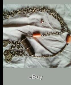 Rihanna Berber Sterling Silver Coral Old 72gr