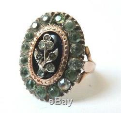 Ring 19th Century Or + Silver + Gold Rhinestone Former Bijou Ring